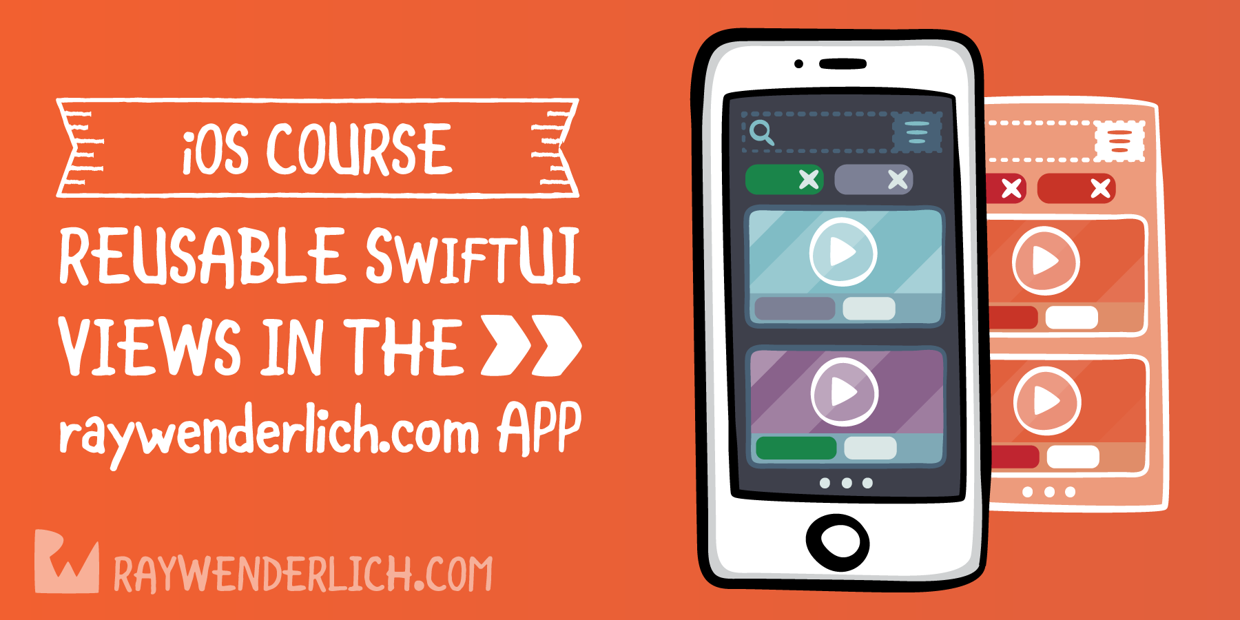 Reusable SwiftUI Views in the raywenderlich.com App [SUBSCRIBER]