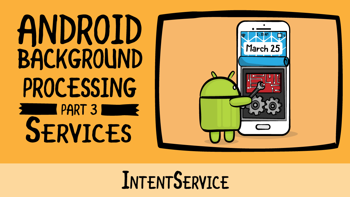 Android Background Processing · IntentService | raywenderlich com